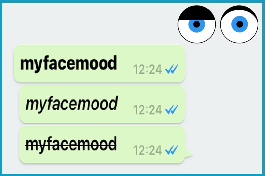 Whatsapp sai come modificare il testo?
