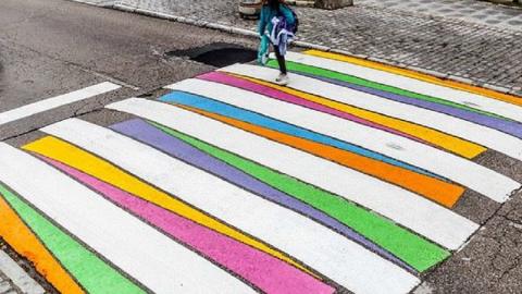 Madrid: anche le noiose strisce pedonali possono trasformarsi in opere d'arte!
