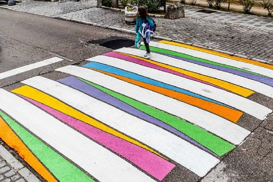 Myfacemood - Strisce Pedonali colorate a Madrid