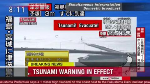 Giappone Tsunami e Terremoto di magnitudo 7,3