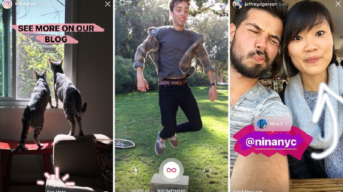 Instagram unisce Storie, Boomerang e tags