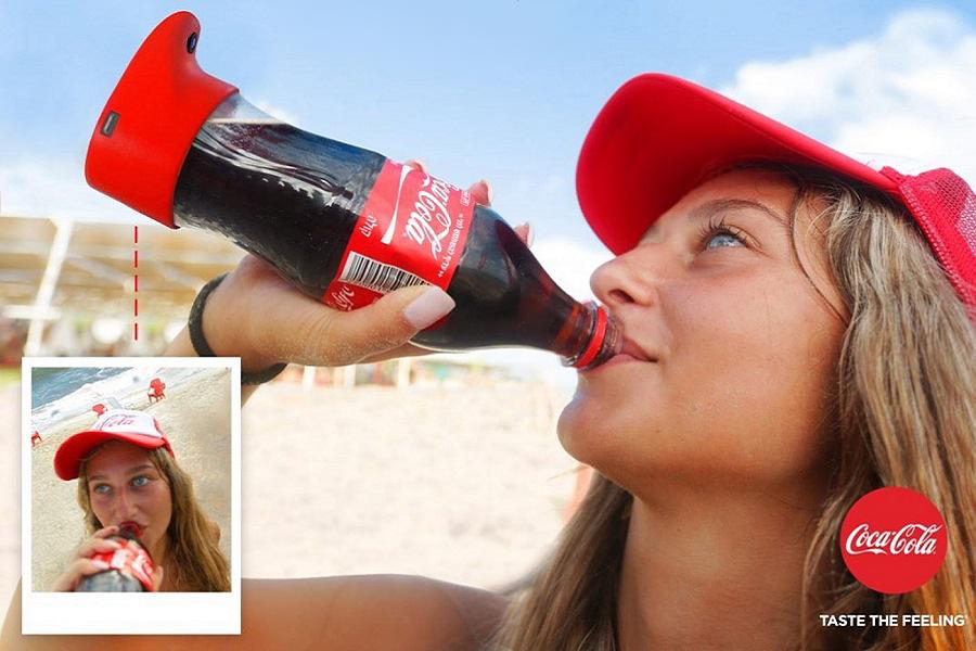 Myfacemood - La bottiglia selfie di Coca Cola