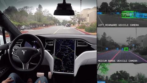 Tesla prova su strada l'hardware per l'auto-guida!