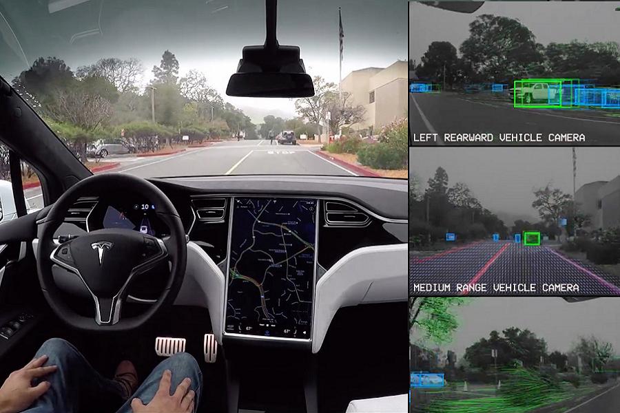 Tesla prova il nuovo hardware per l'auto-guida sulle sue automobili