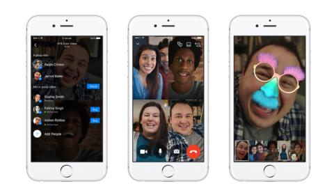 """Facebook lancia la funzione """"Video Chat di gruppo"""" su Messanger"""
