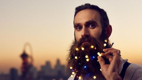 L'ultimo trend natalizio da Londra per gli Hipsters barbuti