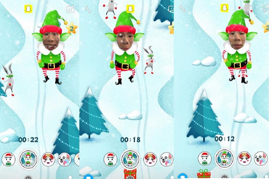 Snapchat usa il viso per un nuovo gioco nella app