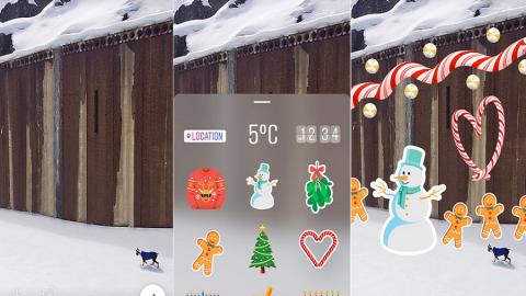 Storie di Instagram: Nuovi stickers ed allegria un po' forzata per il Natale