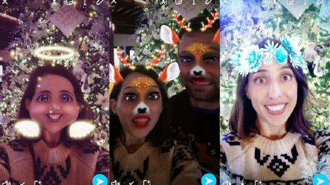 Snapchat: ecco le versioni Natalizie dei nuovi filtri!
