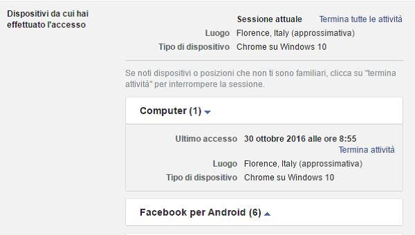 Myfacemood - Sicurezza account Facebook