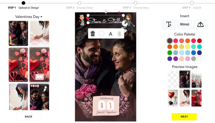 Myfacemood - Filtri romantici di Snapchat
