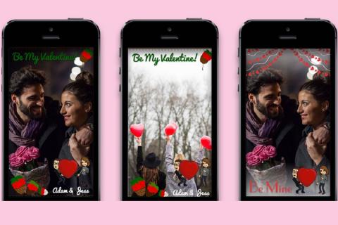 Personalizza il tuo amore con Snapchat per San Valentino