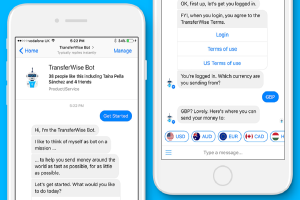 Myfacemood - Transferwise e Messanger