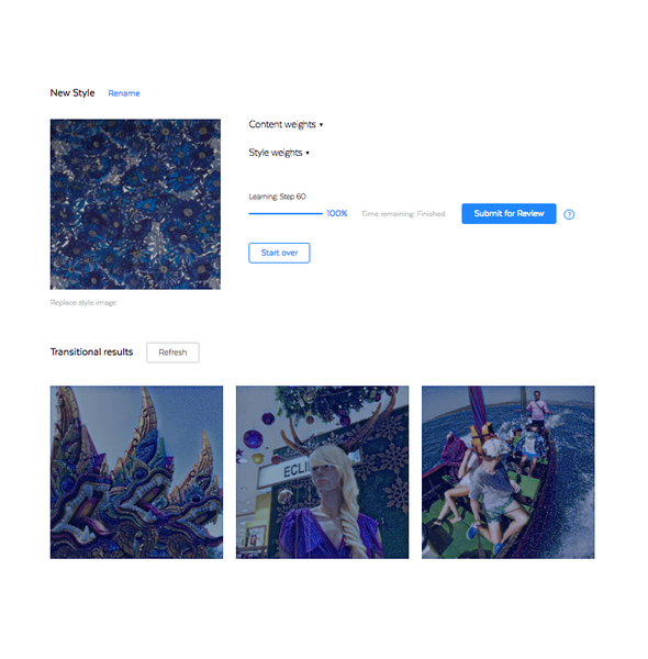 Myfacemood - l'app di Prisma consente di creare i propri filtri basati sulle immagini caricate