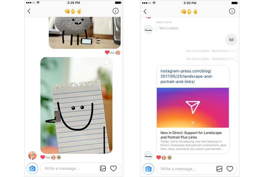 Myfacemood - Instagram adesso permette l'invio di link nei messaggi diretti!