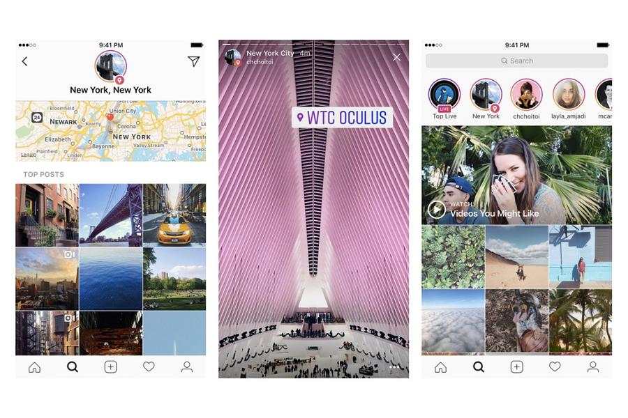 Myfacemood - Instagram intoduce l'Archivio e la Ricerca delle Storie per Posizione e Hashtags