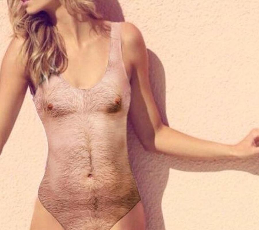Myfacemood - Cosutmi alla moda Arriva il pelosissimo Sexy Chest One Piece Swimsuit!
