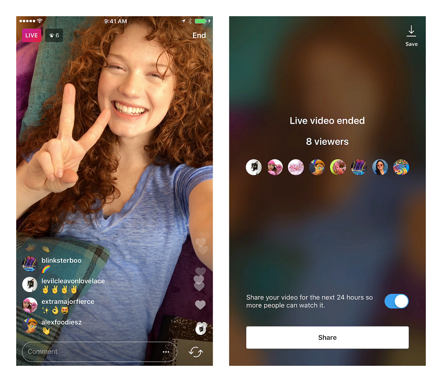 Myfacemood - Instagram aggiunge i Replay di 24 ore sui Video dal Vivo nelle Stories