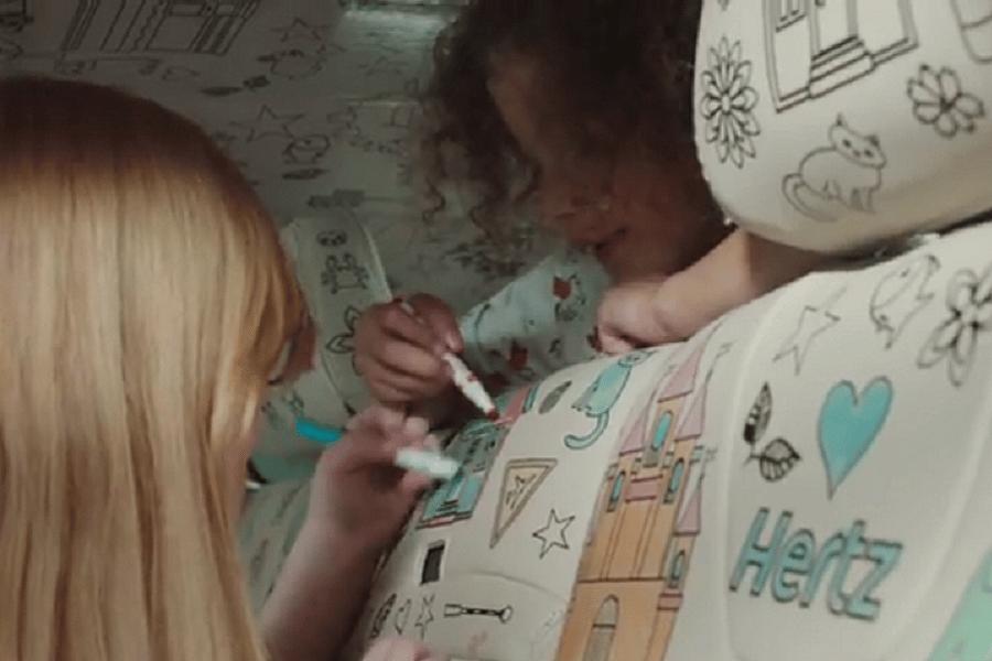 Myfacemood - Hertz lancia la prima auto da colorare al mondo, per intrattenere i bambini annoiati!