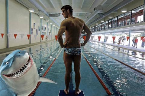 Michael Phelps lancia la sfida al Grande Squalo Bianco!
