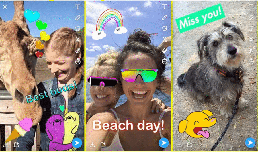 Myfacemood - Snapchat introduce le gif di Giphy e le Tabs